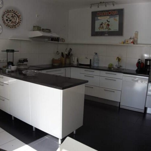 The Madeira holiday home has an ample kitchen