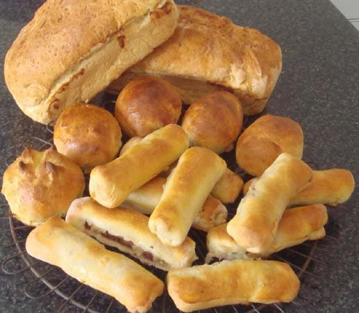 Choice of bread is getting better, but still not quite to our liking. We bake our own if needed